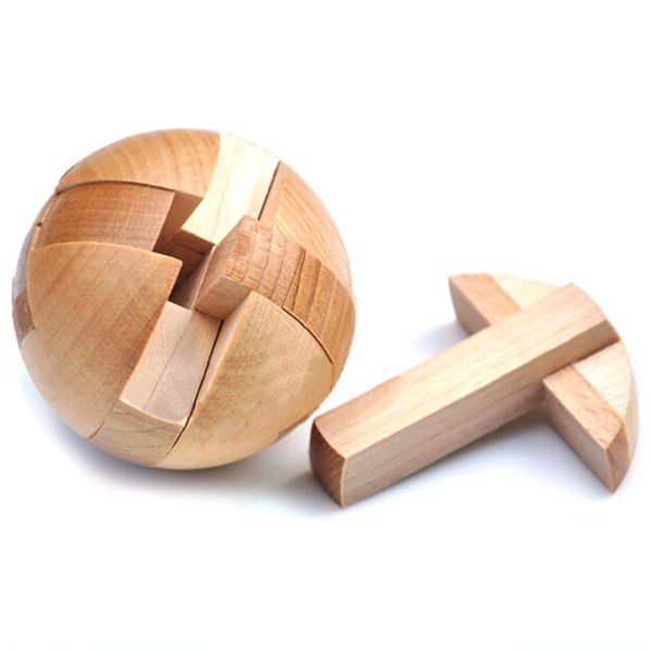 Wooden Puzzle Magic Ball Brain Teasers Toy Intelligence Game Sphere