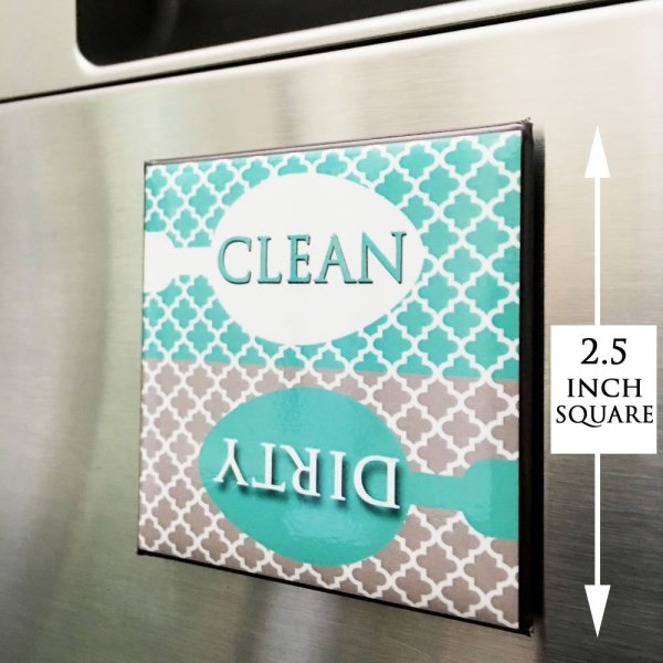Clean Dirty Dishwasher Magnet Sign for Dishes