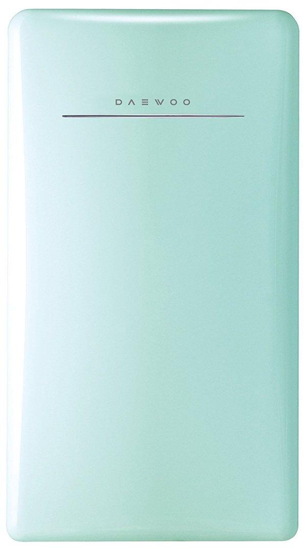 Daewoo Retro Compact Refrigerator, 4.4 cu. ft., Mint