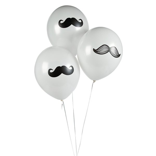 Fun Express Mustache Latex Balloons Party Favors