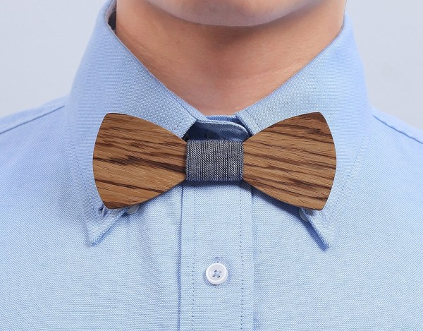 Handmade Customized Solid Wood Bow Tie