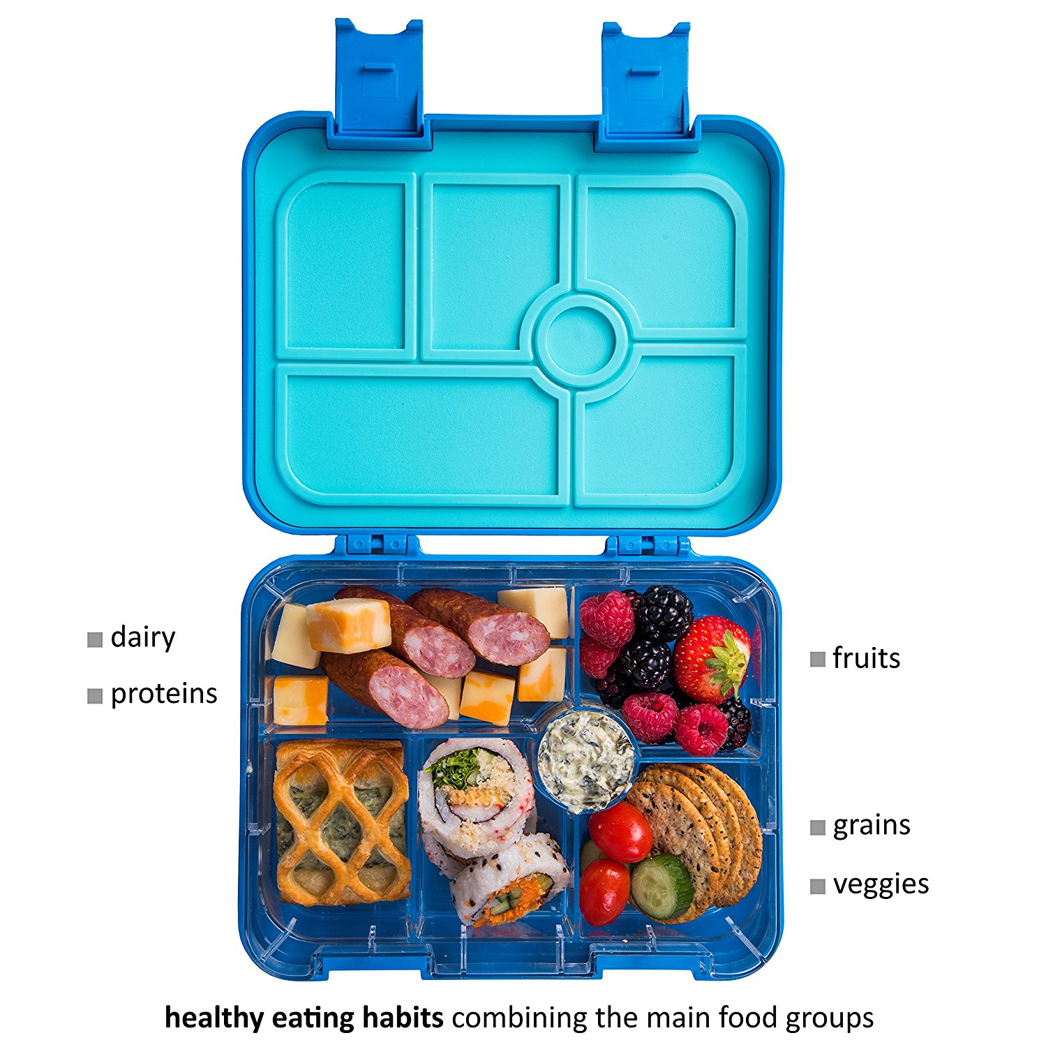 Bento Box Accessories For Kids: LUNCH2GO Leakproof Bento Lunch Box For Kids And Toddlers