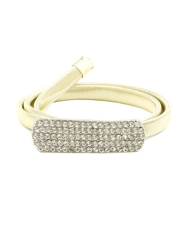 Metal Rectangle Interlocking Buckle Elastic Waist Chain