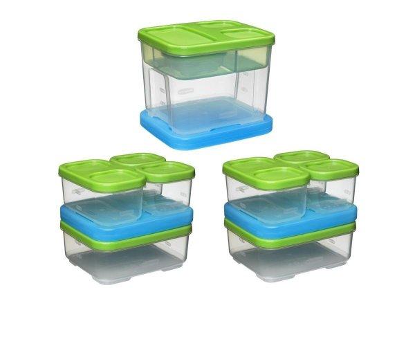 Rubbermaid Lunch Blox Set (3 kits)