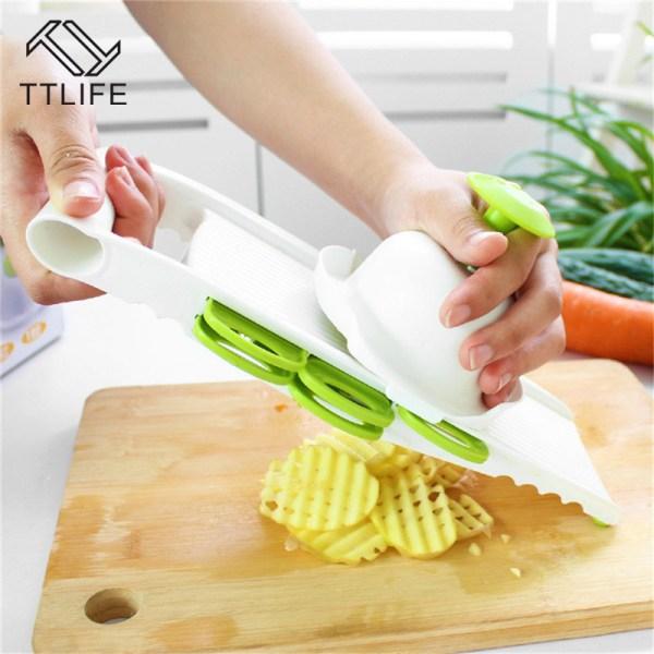 Mandoline Vegetable Slicer Manual Home Fruit Vegetable Cutter with Box