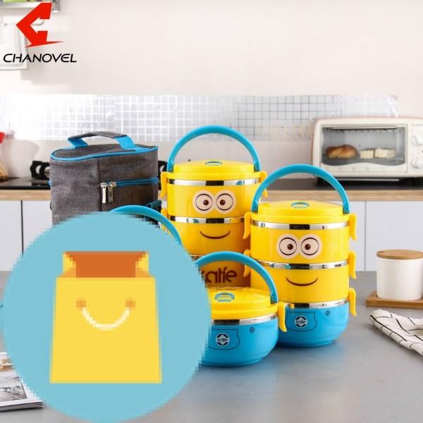 CHANOVEL 1 PCS Cute Cartoon Lunch box For Kids