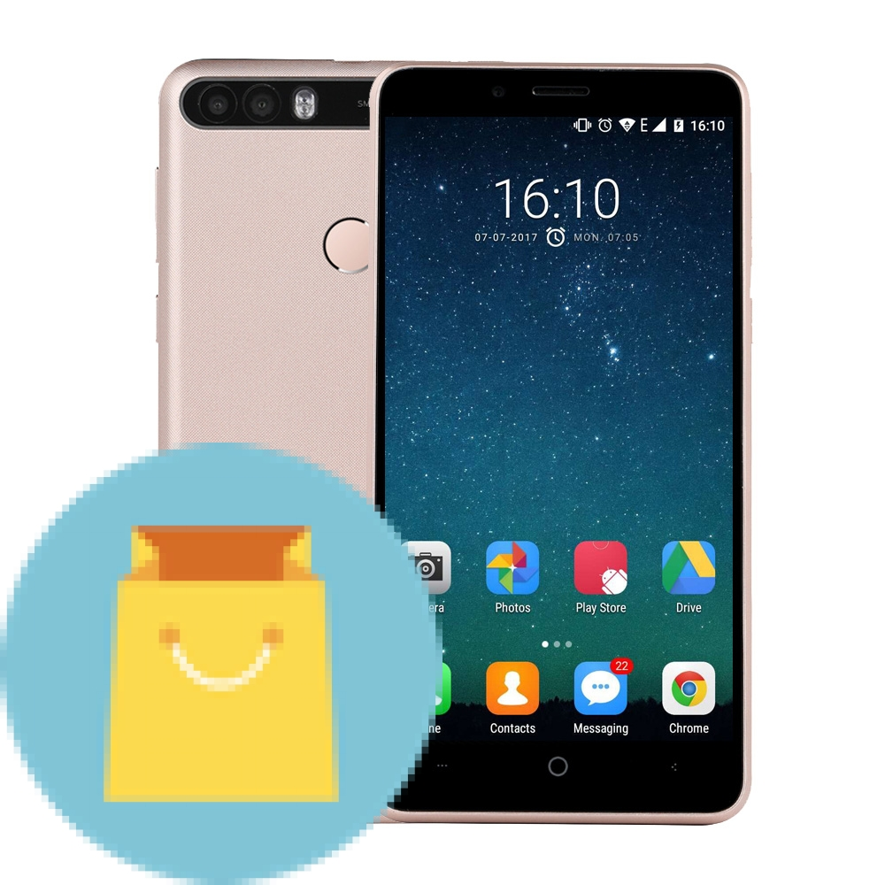 "LEAGOO KIICAA POWER 5.0"" Android 7.0 Smartphone Quad Core"