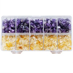 Chips Stone Crushed Pieces Crystal Quartz for Tumbling, Cabbing, Amethyst & Citrine
