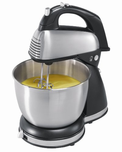 Hamilton Beach 6-Speed Classic Stand Mixer, Stainless Steel
