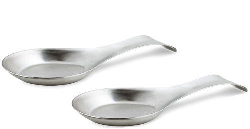 Stainless Steel Spoon Rest (Set of 2)