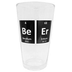 Smart Mugs Periodic Beer Glass, 1 Pint Size, Beer Mug Glassware for Bars