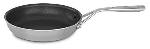 "KitchenAid Tri-Ply 10"" Nonstick Skillet, Stainless Steel, Medium"
