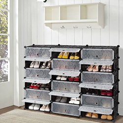 DIY Shoe Rack, Storage Drawer Unit Multi Use Modular Organizer Plastic Cabinet