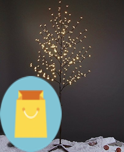 Lightshare 6 Feet Cherry Blossom Lighted Tree, 208 LED lights, Warm White