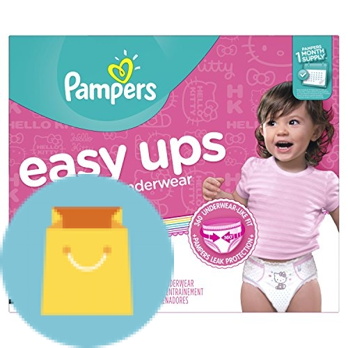 Pampers Easy Ups Training Pants Pull On Disposable Diapers for Girls Size 4