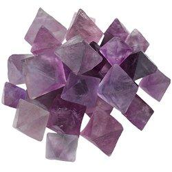 Natural Purple Fluorite Rough Stone, Rhombus Crystal Quartz Point