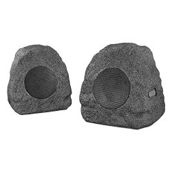 Innovative Technology Premium 5-Watt Bluetooth Outdoor Rock Speakers