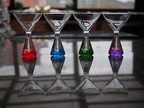 Erlenmeyer Flask Martini Glasses (4-color)