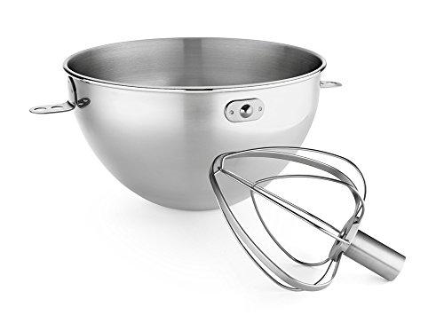 KitchenAid 3-Qt. Stainless Steel Bowl & Combi-Whip - Fits Bowl-Lift models KV25G and KP26M1X