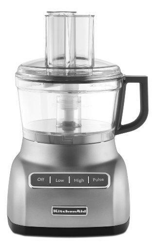 KitchenAid 7 Cup Food Processor, Contour Silver