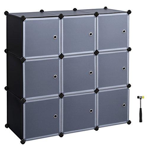 DIY Storage Cube Organizer Closet 9-Cube Bookcase Cabinet with Door