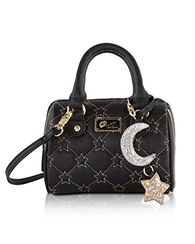Luv Betsey Johnson Harlii Star Mini Crossbody Satchel Bag - Black Gold