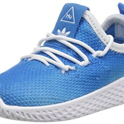 adidas Originals Baby PW Tennis HU I, Bright Blue/White/White, 4 Medium US Toddler