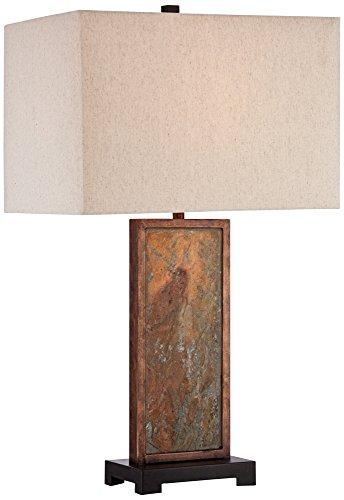 Franklin Iron Works Yukon Slate Table Lamp