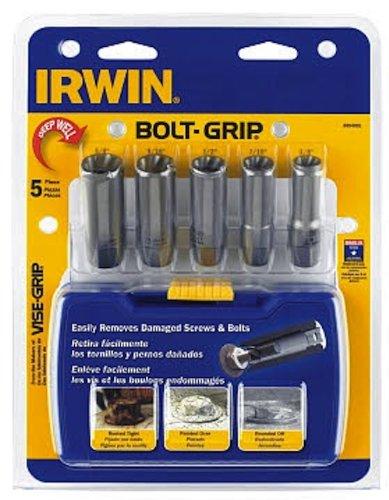 IRWIN Tools BOLT-GRIP Deep Well Bolt Extractor Set, 5-Piece