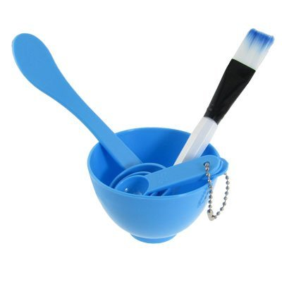 Rosallini Packed 4 In 1 Facial DIY Mask Bowl Brush Spoon Tools Set Blue