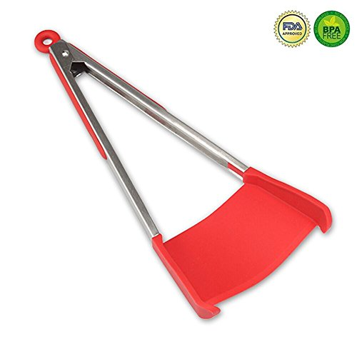 Clever Tongs 2 in 1 Silicone Spatula and Tongs Kitchen Tools As Seen on TV
