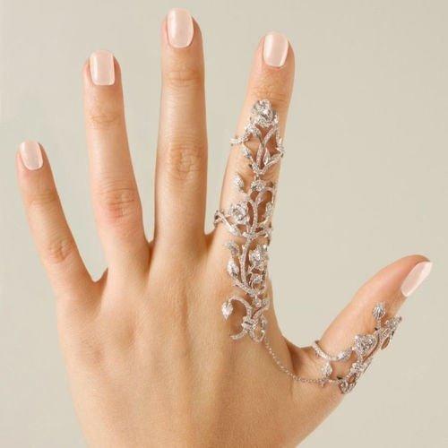 CJESLNA 1PC Rings Multiple Finger Stack Knuckle Band Crystal Set