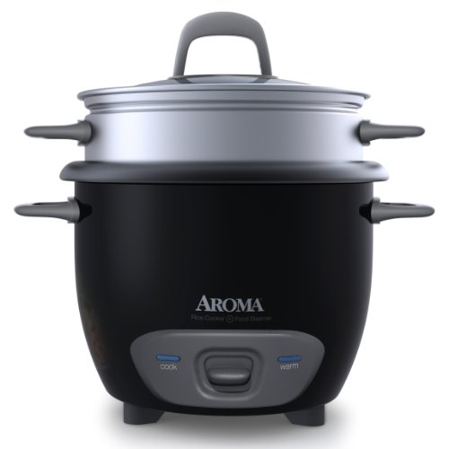 Aroma Housewares 6-Cup (Cooked) Pot-Style Rice Cooker and Food Steamer