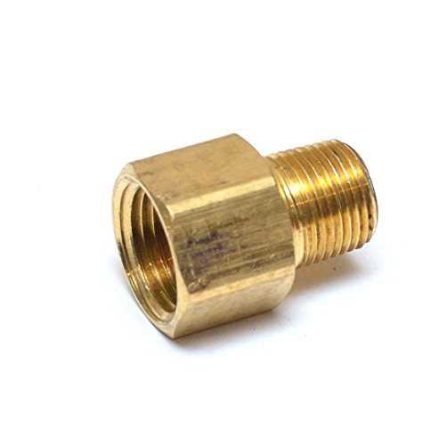 "FasParts 1/2"" Female NPT FPT FIP to 3/8"" Male MPT MIP Brass Pipe"