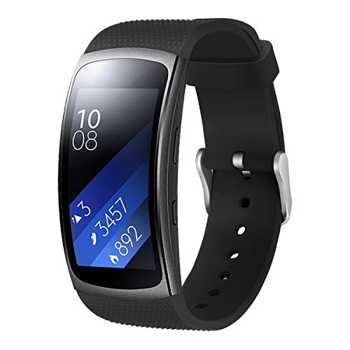 "Aresh for Samsung Gear Fit 2 Band / Gear Fit 2 Pro Band, Replacement Bands Accessories for Samsung Gear Fit2 Pro SM-R365/ Gear Fit2 SM-R360 Smartwatch (Black 5.9""-7.5"")"