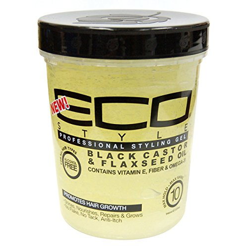 Eco Style Gel Black Castor and Flaxseed Oil, 32 Ounce