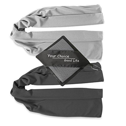 "Cooling Towels - 40"" Long Soft Cool Golf Towels for Men Women"