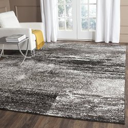 Safavieh Adirondack Collection Silver and Black Modern Abstract Area Rug (8' x 10')
