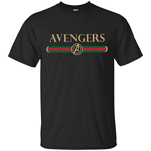 Avengers Gucci New Black T-Shirt Funny Avengers Infinity War Parody Shirt Gift Tees T Shirt
