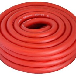 Red Amplifier Amp Power/Ground 1/0 Wire 25 Feet SuperFlex Cable