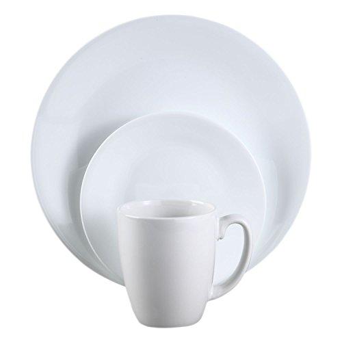 Corelle Livingware 12 Piece Dinnerware Set, Winter Frost White, Service for 4