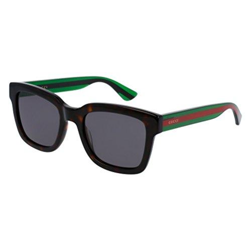 Gucci Fashion Sunglasses, 52/21/145, Avana / Grey / Green