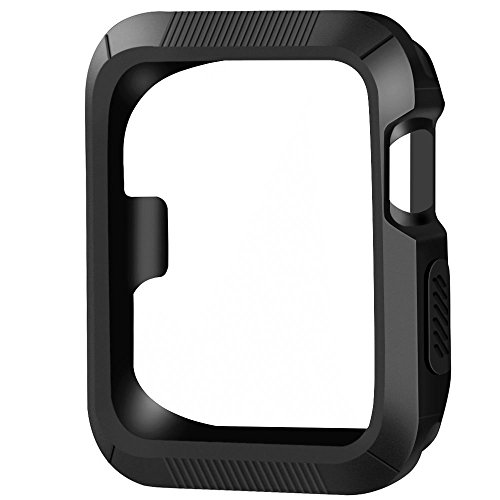 Marge Plus Apple Watch Case 42mm, Rugged Protective Slim Shock Resistant iWatch Case for Apple Watch Series 2 ,Series 1, Nike+ ,Sport ,Edition -Black