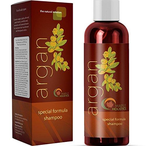 Argan Oil Shampoo, Sulfate Free, 8 oz. - With Argan, Jojoba, Avocado