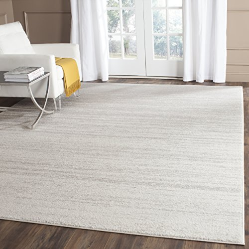 Safavieh Adirondack Collection Ivory and Silver Modern Area Rug (9' x 12')