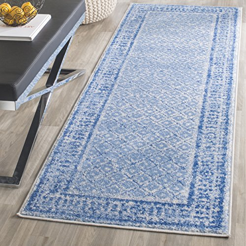"""Safavieh Adirondack Collection Silver and Blue Vintage Distressed Runner (2'6"""" x 6')"""