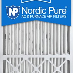 Nordic Pure 20x25x5 (4-3/8) MERV 12 Honeywell FC100A1037 Replacement Pleated AC Furnace Air Filters, Box of 2