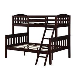 Dorel Living Airlie Twin over Full Bunk Bed, Espresso