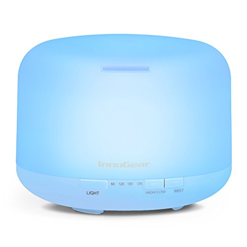 InnoGear 500ml Aromatherapy Essential Oil Diffuser Cool Mist Humidifier
