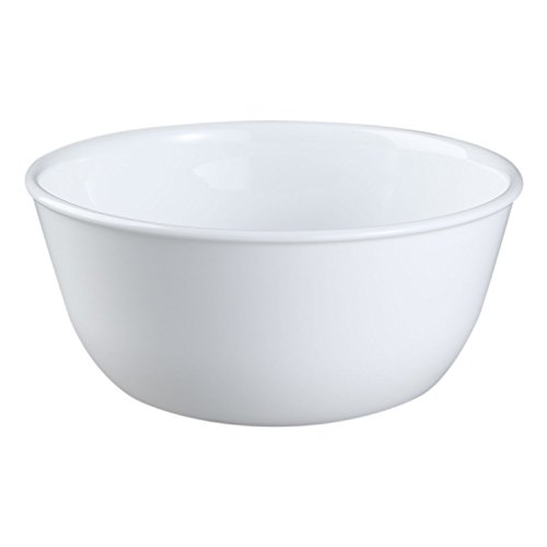 Corelle Livingware Winter Frost White 28 Ounce Soup / Cereal Bowl (Set of 8)